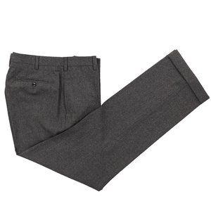 INCOTEX 120's Flannel Wool Dress Pants 34 X 33